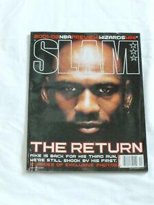 SLAM  Magazine Michael Jordan DEC 2001, THE RETURN, 10 pages photos, NBA Preview