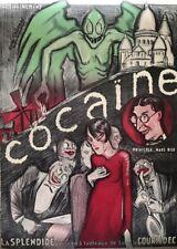 Vintage  Art Deco Reprint French Theatrical Poster Cocaine La Splendide