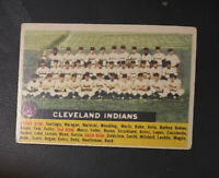 1956 Topps #85  Cleveland Indians Team / No Date,White back w/ HOF Bob Feller