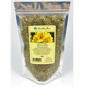 Wild Crafted MULLEIN 50g Verbascum thapsis Dried Herbal Tea Premium 100% Pure