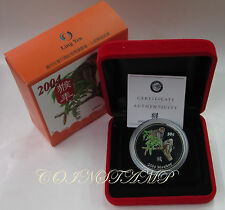 2004 Cook Islands, 50 c Year of Monkey, Cupro-Nickel Color PF Coin