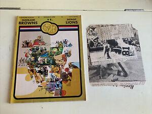 1969 Cleveland Browns Detroit Lions Football Program