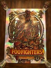 Foo Fighters Foil Show Poster #8/30 Signed - St. Louis - Guy Burwell - 10/13/18