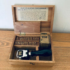 More details for 1965. antique velos no. 456 date stamp, mechanical numbering machine in orig box