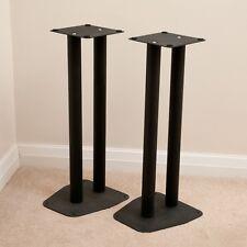 Pair of Black Speaker Stands, 60cm tall