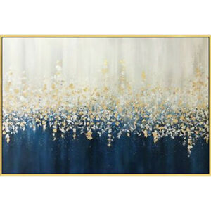LL506-1 Modern abstract Gold Foil Canvas Hand-painted oil painting Unframed 48''