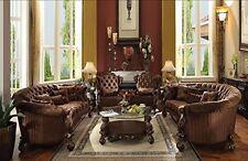 Acme Furniture 52080 Versailles Sofa w/5 Pillows, Brown Velvet & Cherry Oak New