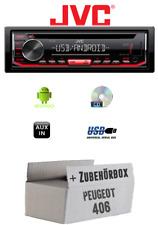 Peugeot 406 - Autoradio Radio JVC KD-T402 | CD | MP3 | USB | Android - Einbauzub