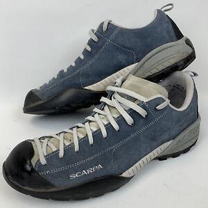 Scarpa Mojitio blue hiking walking shoes UK 11 EU 46 Vibram Soles Climbing VGC