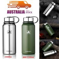 0.8/1.1/1.5L Double Walled  Stainless Steel Vacuum Insulated Water Drinks Bottle
