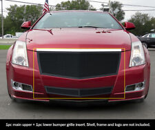 Ss 1.8mm Black Mesh Grille Combo For 08-12 2011 2012 Cadillac Cts (Fits: Cadillac)