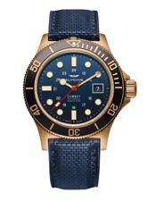 Glycine Men's GL0242 Combat Sub 42 Bronze Automatic 42mm Blue Dial Watch