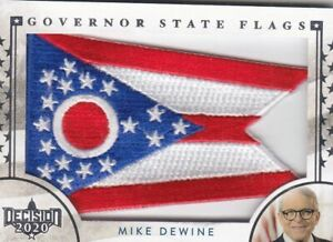 2020 DECISION SERIES 2 MIKE DEWINE GOVERNOR STATE FLAG PATCH CARD OHIO