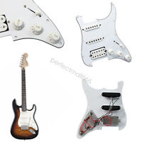 White 3Ply 11 Hole Loaded Pickguard Set for Squier Strat Guitar Prewired