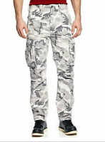 NEW MENS LEVIS RELAXED FIT ACE CARGO PANTS WHITE CAMOUFLAGE 124620040