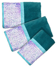 Tammi Aqua - 3-Piece Popular Bath Bathroom Pool, Hand, Wash Towel Set