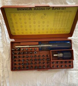 Brownells Magna Tip Super Set Gun Smithing Reloading Magnetic Screwdriver