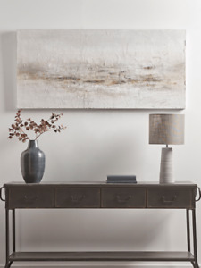 Cox & Cox Stylish Textured Brushstrokes Abstract Landscape Canvas - RRP £225