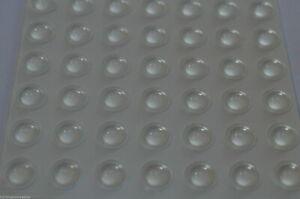 49 KITCHEN CABINET DOOR BUFFER PADS ADHESIVE RUBBER FEET BUMPER STOPS DOTS 7.5MM