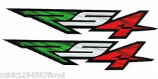 Aprilia RS4 Motorcycle graphics stickers decals x 2 Italian flag colours SMALL
