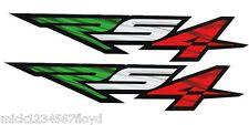 Aprilia Rs4 Motocicleta gráficos Stickers Calcomanías X 2 Bandera Italiana Colores