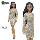 "ELENPRIV FA004 pale golden sequined mini dress for Barbie Pivotal MTM 12"" dolls"