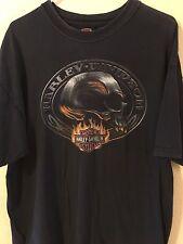 Harley-Davidson Men's Skull Fire Short Sleeve T-Shirt, Black