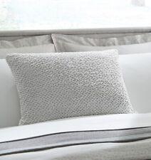 """Sferra ZEA Decorative Pillow 16 x 22"""" 100% COTTON WHITE / SILVER  - NEW!"""