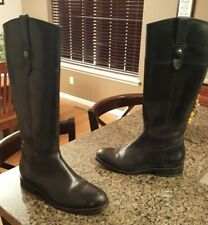 AWESOME Women's Black  Leather Frye Jayden Button Zip Riding Boots 9