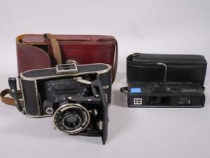 2 Alte Kameras: Voigtländer Bessa + Kodak Tele-Instamatic   1M2090
