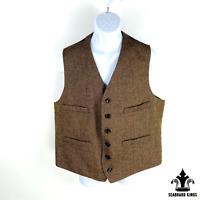 Goodfellow Mens Tweed Waistcoat Vest Wool Blend Herringbone XL New With Tags NWT