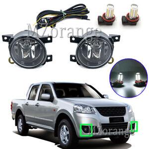LED Left Right Side Fog Light Lamps Wiring For Great Wall V240 V200 09/2011-2020
