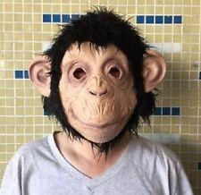 Capo completo Maschera Scimmia Scimpanzè Animale SCIMMIA PRIMATE Costume Halloween pelliccia