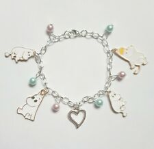 THE MOOMINS Moomintroll Heart Hippo Charm Bracelet Girls Ladies Gift Pouch UK