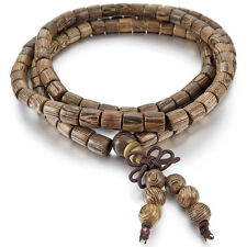 Natural Wenge 6mm 108 Beads Bracelet Tibetan Buddhist Buddhism Prayer Mala