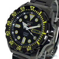 New SEIKO 5 SPORTS AUTOMATIC ION S/STEEL BLACK FACE SRP607K1