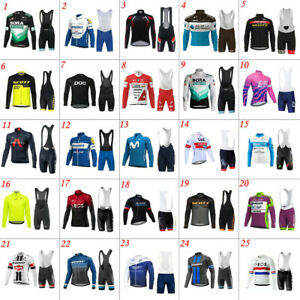2021 Team Mens Cycling Long Sleeve Jerseys And Bib Shorts Cycling Jerseys