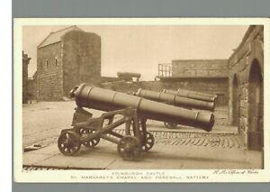 Edinburgh Castle : Forewall Battery : Scotland : Vintage Postcard