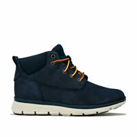 Children Boys Timberland Killington Chukka Boots In Navy- Lace Fastening-