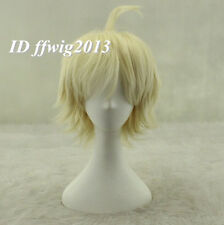 Seraph of the End Vampire Mikaela Hyakuya Blonde Short Cosplay Wig +a wig cap