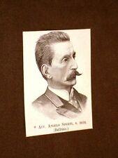 Deputato o Onorevole nel 1893 Avvocato Angelo Sperti di Belluno