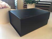 Black Gift Box, Magnetic Closure, A5 Deep, Keepsake Box