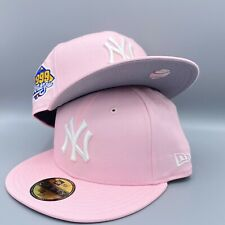 New York Yankees World Series 1999 59FIFTY New Era Pink Fitted Hat Gray Bottom