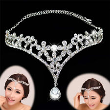 Rhinestone Band Bridal Tiaras And Crowns Princess Prom Crown Headband Wedding FO