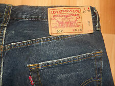 "Levis 501 Straight Fit Jeans W34"" L29"" Used-Look (Original) 35"