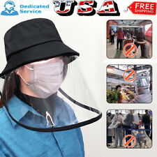 Fisherman Hat Protective Clear Cover Saliva-proof Dust-proof Face Shield Cap US