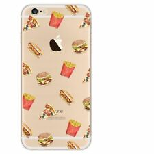Fast FOOD Chiaro Morbido Silicone Custodia Cover Pelle per Apple iPhone 6 PLUS CODICE 48