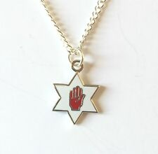 Northern Ireland Red Hand Of Ulster In Star Pendant, Chain and Organza Pouch ...