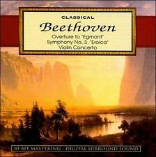 Classical Beethoven CD Overture to Egmont Symphony No 3 Eroica