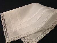 #5648🌟Antique 1910s Fine Fancy Lace Wedding Handkerchief Heirloom Keepsake